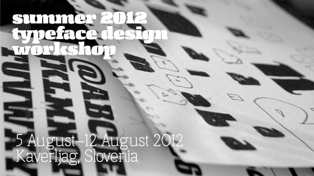Summer 2012 Typography Workshop