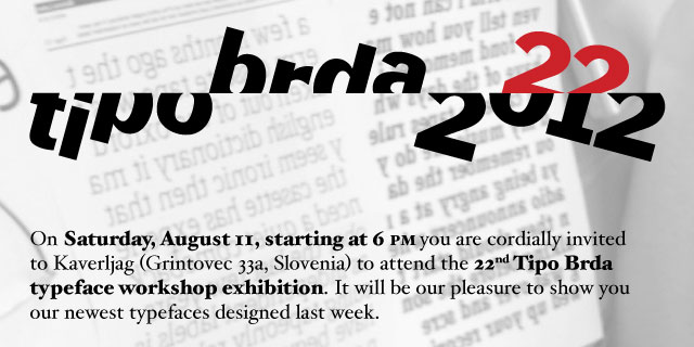22nd Tipo Brda Typeface workshop exhibition