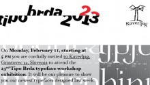 23rd Tipo Brda Typeface workshop exhibition