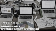 Summer 2013 Typedesign Workshop