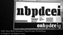Summer 2014 Typedesign Workshop
