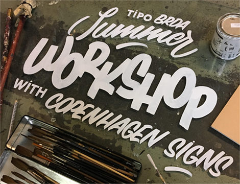 Summer workshop – Hand painted signs