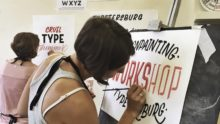Sign Painting Workshop, summer 2018